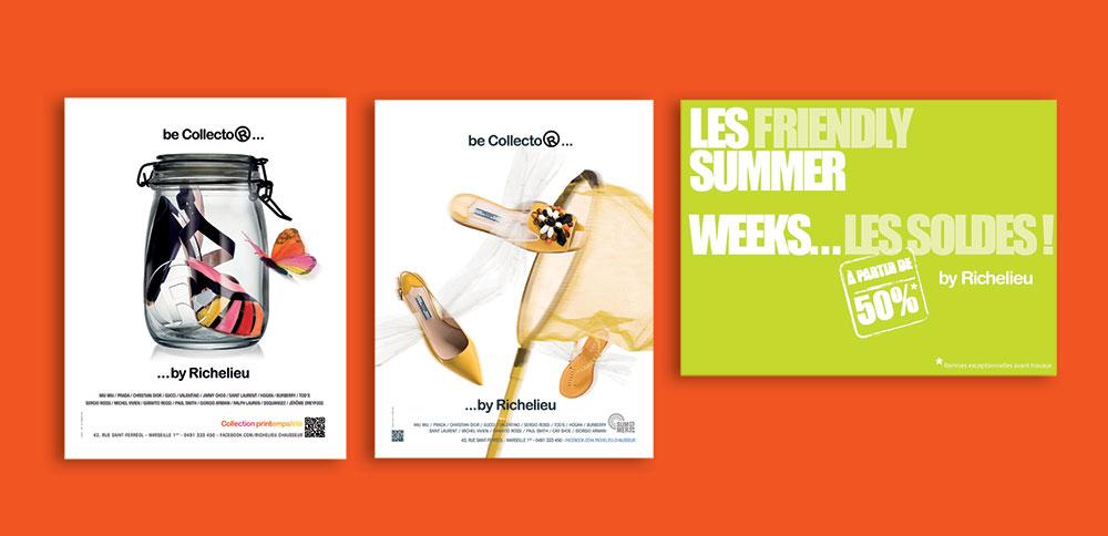 Affichage, campagne d'affichage Richelieu Sextant