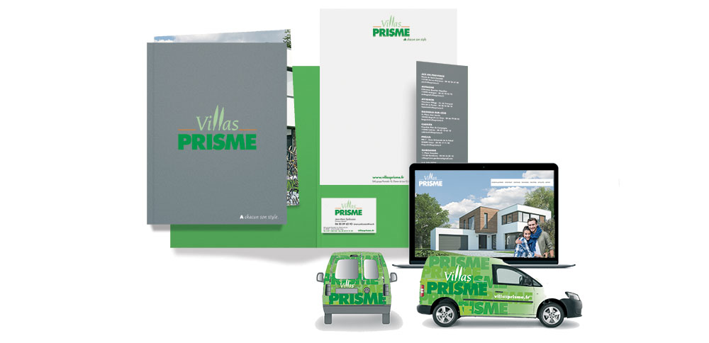 Immobilier, programme, plaquette stickers vehicule
